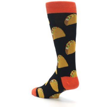 Image of Black Tacos XL Men's Dress Socks (side-2-back-14)