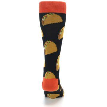 Image of Black Tacos XL Men's Dress Socks (back-18)