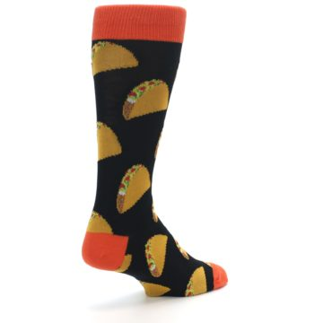 Image of Black Tacos XL Men's Dress Socks (side-1-back-21)