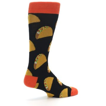 Image of Black Tacos XL Men's Dress Socks (side-1-back-22)