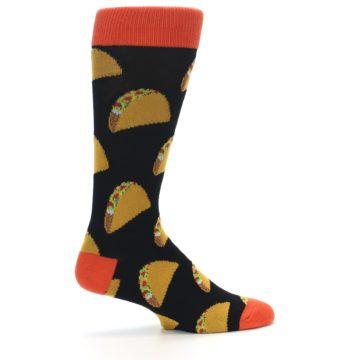 Image of Black Tacos XL Men's Dress Socks (side-1-23)