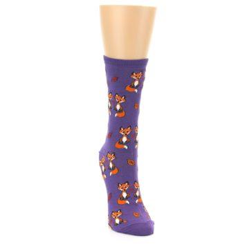 Image of Violet Purple Foxy Love Women's Dress Socks (side-1-front-03)