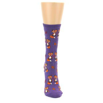 Image of Violet Purple Foxy Love Women's Dress Socks (front-04)