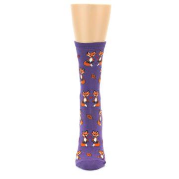 Image of Violet Purple Foxy Love Women's Dress Socks (front-05)