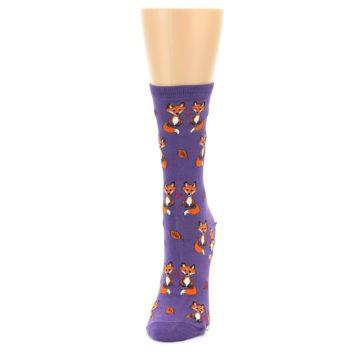 Image of Violet Purple Foxy Love Women's Dress Socks (side-2-front-06)
