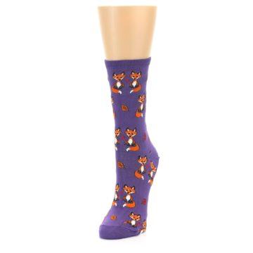 Image of Violet Purple Foxy Love Women's Dress Socks (side-2-front-07)
