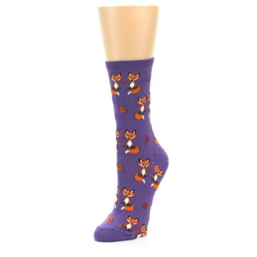 Image of Violet Purple Foxy Love Women's Dress Socks (side-2-front-08)