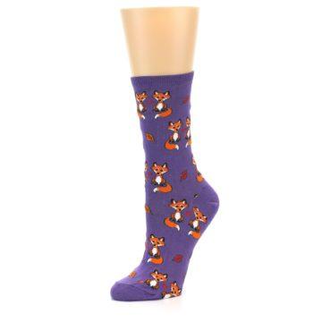 Image of Violet Purple Foxy Love Women's Dress Socks (side-2-09)
