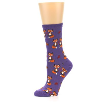 Image of Violet Purple Foxy Love Women's Dress Socks (side-2-10)