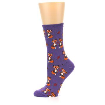 Image of Violet Purple Foxy Love Women's Dress Socks (side-2-11)
