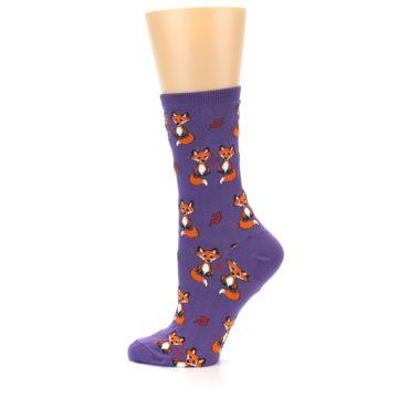 Image of Violet Purple Foxy Love Women's Dress Socks (side-2-12)