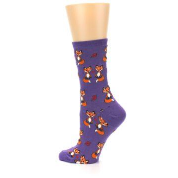 Image of Violet Purple Foxy Love Women's Dress Socks (side-2-13)