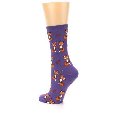 Image of Violet Purple Foxy Love Women's Dress Socks (side-2-back-14)