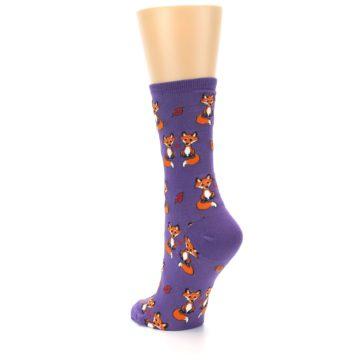 Image of Violet Purple Foxy Love Women's Dress Socks (side-2-back-15)