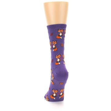 Image of Violet Purple Foxy Love Women's Dress Socks (back-17)