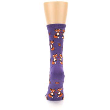 Image of Violet Purple Foxy Love Women's Dress Socks (back-18)
