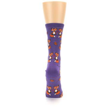 Image of Violet Purple Foxy Love Women's Dress Socks (back-19)