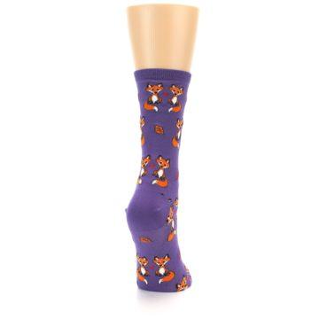 Image of Violet Purple Foxy Love Women's Dress Socks (side-1-back-20)