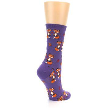 Image of Violet Purple Foxy Love Women's Dress Socks (side-1-back-22)
