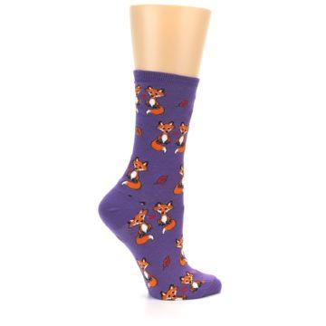 Image of Violet Purple Foxy Love Women's Dress Socks (side-1-24)