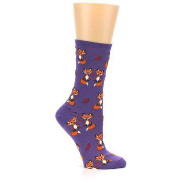 Image of Violet Purple Foxy Love Women's Dress Socks (side-1-25)