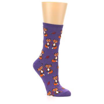 Image of Violet Purple Foxy Love Women's Dress Socks (side-1-26)