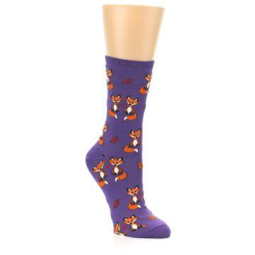 Image of Violet Purple Foxy Love Women's Dress Socks (side-1-27)