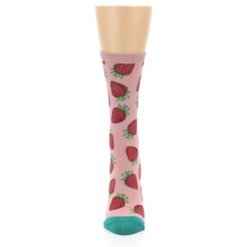 Image of Pink Strawberries Women's Dress Socks (front-05)