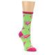 Image of Lime Pink Flamingo Women's Dress Socks (side-1-front-01)