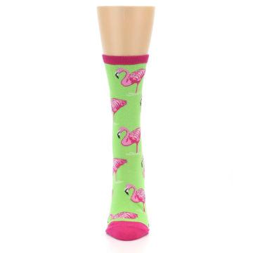 Image of Lime Pink Flamingo Women's Dress Socks (front-05)