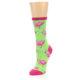 Image of Lime Pink Flamingo Women's Dress Socks (side-2-front-08)