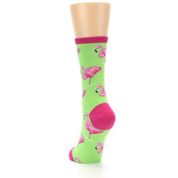 Image of Lime Pink Flamingo Women's Dress Socks (side-2-back-16)