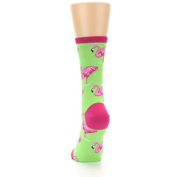 Image of Lime Pink Flamingo Women's Dress Socks (back-17)