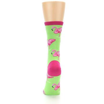 Image of Lime Pink Flamingo Women's Dress Socks (back-18)