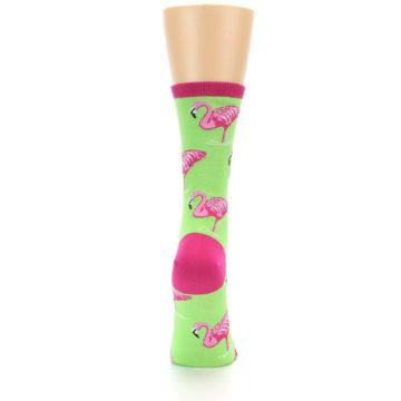 Image of Lime Pink Flamingo Women's Dress Socks (back-19)