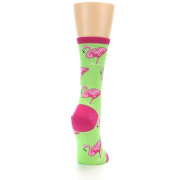 Image of Lime Pink Flamingo Women's Dress Socks (side-1-back-20)