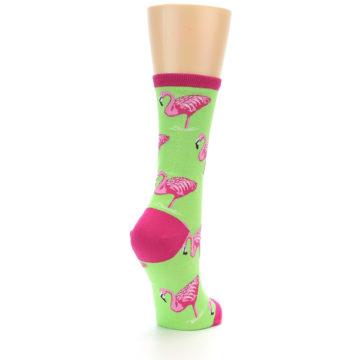 Image of Lime Pink Flamingo Women's Dress Socks (side-1-back-21)