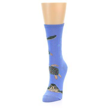 Image of Blue Sea Turtles Women's Dress Socks (side-2-front-07)