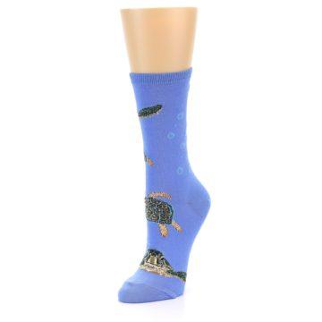 Image of Blue Sea Turtles Women's Dress Socks (side-2-front-08)