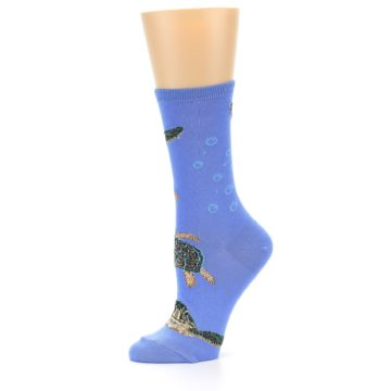 Image of Blue Sea Turtles Women's Dress Socks (side-2-10)
