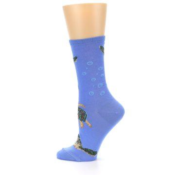 Image of Blue Sea Turtles Women's Dress Socks (side-2-12)