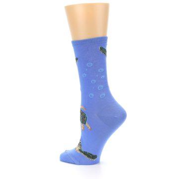 Image of Blue Sea Turtles Women's Dress Socks (side-2-13)