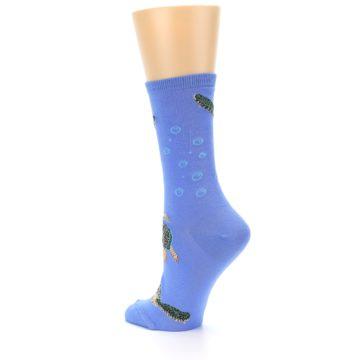 Image of Blue Sea Turtles Women's Dress Socks (side-2-back-14)