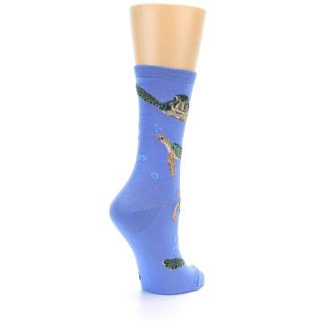 Image of Blue Sea Turtles Women's Dress Socks (side-1-back-22)