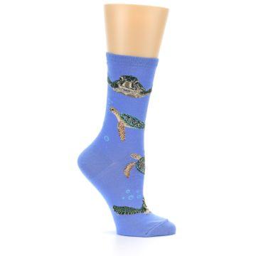 Image of Blue Sea Turtles Women's Dress Socks (side-1-25)