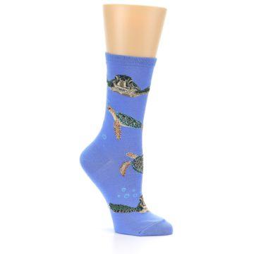 Image of Blue Sea Turtles Women's Dress Socks (side-1-26)