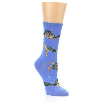 Image of Blue Sea Turtles Women's Dress Socks (side-1-27)