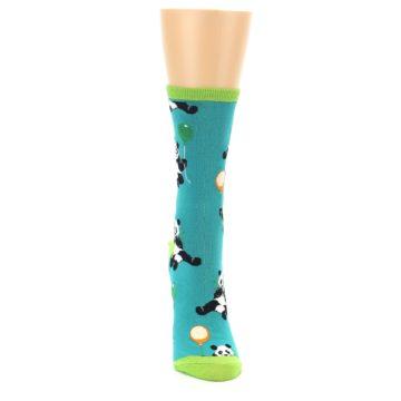 Image of Lagoon Blue Panda Party Women's Dress Socks (front-04)
