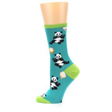 Image of Lagoon Blue Panda Party Women's Dress Socks (side-2-12)