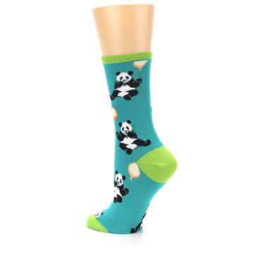 Image of Lagoon Blue Panda Party Women's Dress Socks (side-2-back-14)